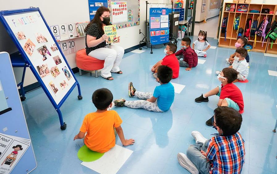 Children in a Pre-K class