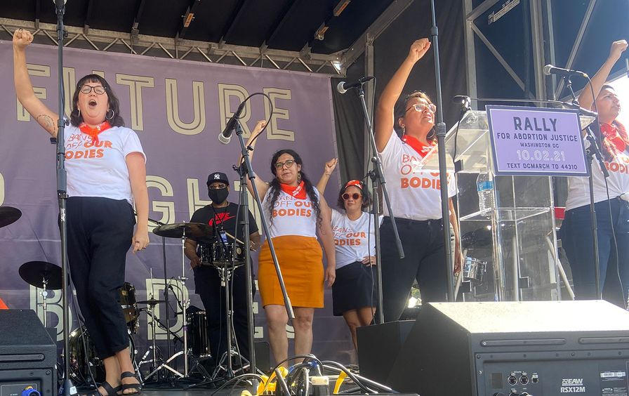 Texas activists perform at the Women's March