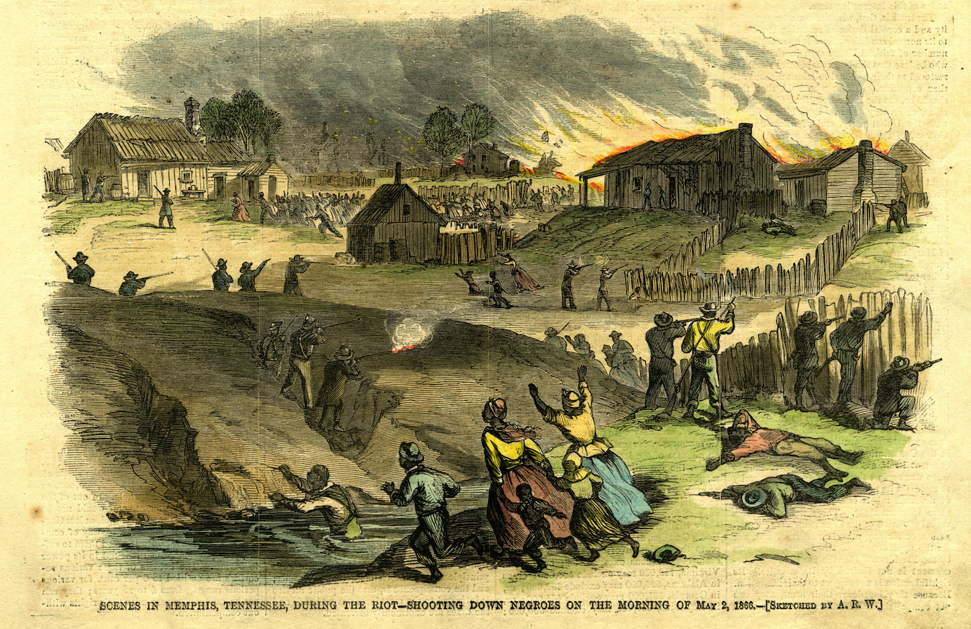 Illustration of the Memphis Riot of 1866