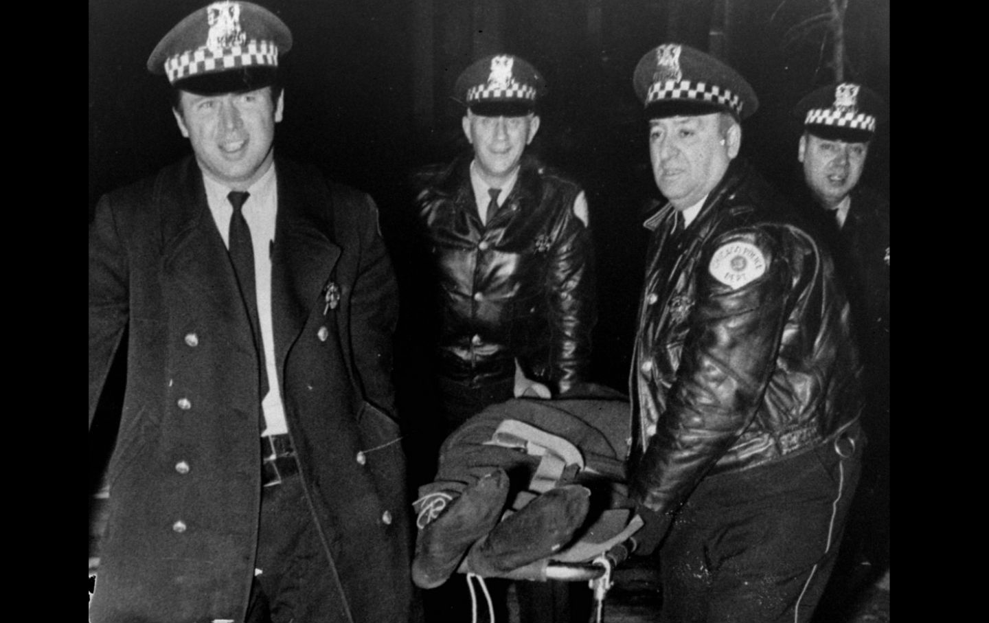 Chicago police remove the body of Fred Hampton