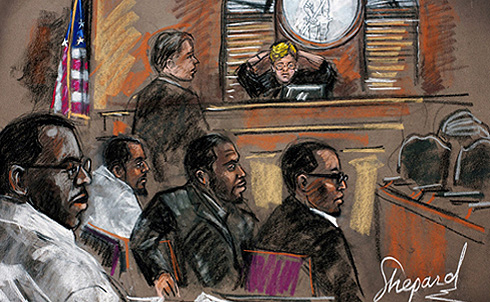 """The Newburgh Four are scheduled to be sentenced, by Judge Colleen McMahon, March 24, 2011. In regards to the Newburgh Four,Judge McMahon noted, during a pre-trial hearing on May 28, 2010, """"I have referred to the case for a number of months, in the privacy of my chambers, as the un-terrorism case."""" The families of the Newburgh Four staunchly maintain that they were entrapped, and on October 22, 2010, there was a rally in Newburgh in support of the defendants. The family of David Williams IV has contacted the White House and seeks to hold the Justice Department accountable for the FBI's use of criminal informants.  —Lyric R. Cabral  © Lyric R. Cabral 2010"""