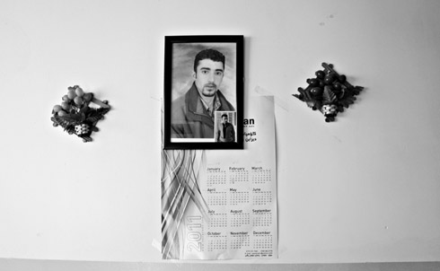 Sherzad Taha's portrait in his parents' Sulaimaniya home