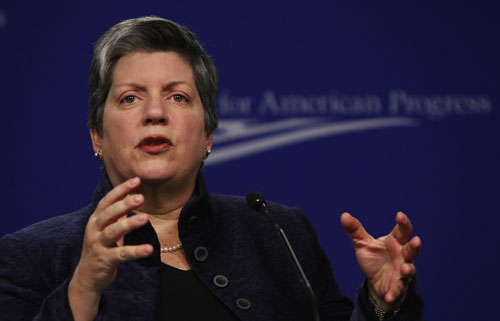 "Homeland Security Secretary Janet Napolitano considers immigration reform critical, but so far her commitment to change has focused on strengthening ""enforcement"" of existing laws. This includes support for the expansion of 287(g), the program she championed as governor of Arizona, despite known abuses of its parameters. AP Images"