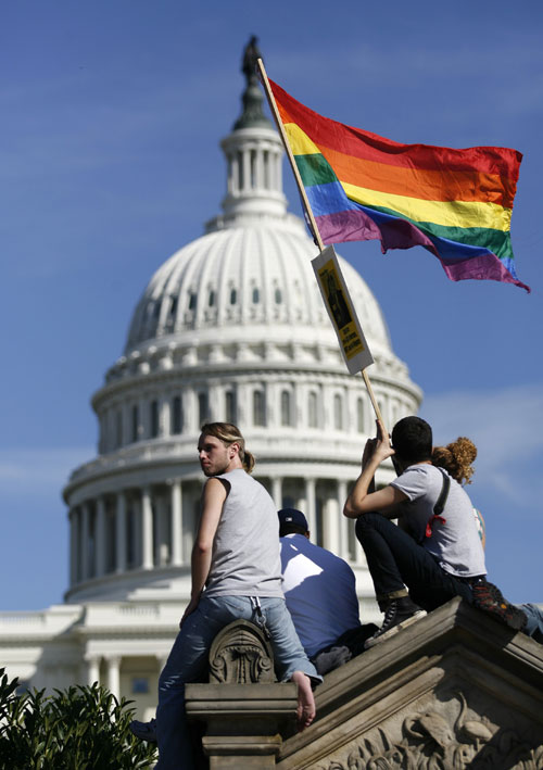 Obama (who finally signed the Matthew Shepard Act into law in October 2009) can continue to repair his damaged relations with the LGBT community by repealing Don't Ask, Don't Tell and the Defense of Marriage Act in 2010.[AP Images]