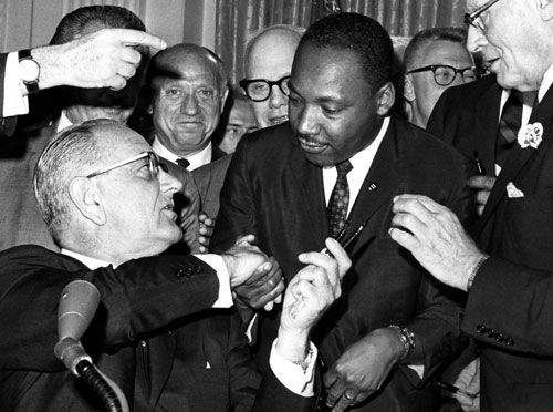 Lyndon B. Johnson (pictured here with Martin Luther King Jr.) has a formidable domestic record (Medicare, Medicaid, the Civil Rights Act and Voting Rights Act to name a few accomplishments). Unfortunately his ambitions to wipe out poverty were overwhelmed by his disastrous choice to further escalate the conflict in Vietnam. Many believe his missteps should provide an important lesson for President Obama as he grapples with Afghanistan.[Everett Collection]