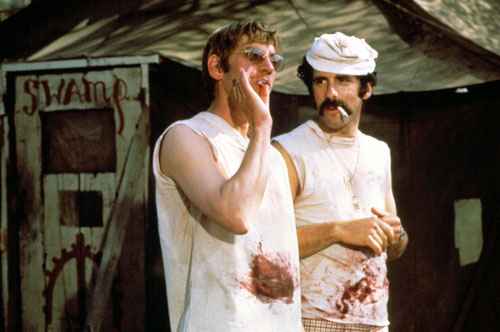 "This subversive antiwar comedy makes unlikely stars out of Donald Sutherland and Elliot Gould, establishes Robert Altman as a major filmmaker and sets the stage for the popular TV series. Robert Hatch pans the film, saying it lacks wit and irreverence. Of the cast, he says,  ""this is a callow bunch."" (Photo: Everett Collection)"