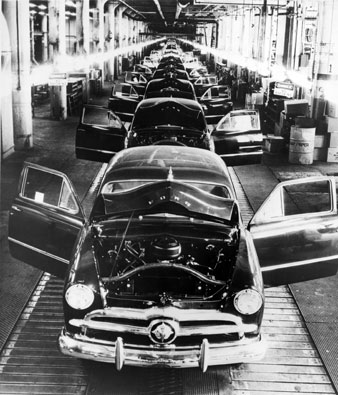 Everett Collection A Ford Assembly Line, 1949.
