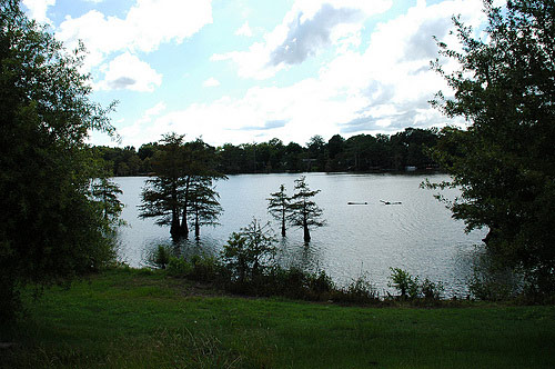 Bee Lake divides the white section of West Holmes County from the surrounding area.