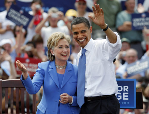 """""""In hindsight, if I knew then what I know now, that I would be getting an establishment insider, I should have chosen one who was at least a fighter. If I could go back I would instead voted for Clinton. At least she has a pair.""""   --Scott Jahner, """"Obama at One"""" Reader ForumAP Images"""