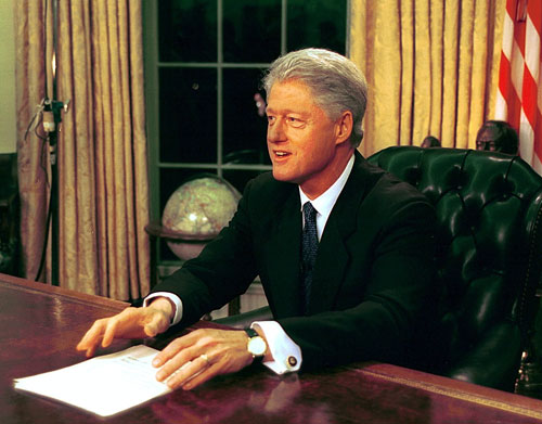 Bill Clinton's poll-driven centrism might have helped him maintain high approval ratings but disappointed progressives who'd hoped his administration would right the domestic wrongs of the past twelve years. Unfortunately some of his more positive achievements are overlooked thanks to an overblown sex scandal which nearly ended his presidency.[Everett Collection]