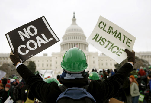 In addition to healthcare and education, Obama outlined energy early on in his administration as one of the pillars of his domestic agenda. Somehow he must find a way to combat our excessive reliance on oil, coal's emission of greenhouse gasses and to find alternative energy sources. [AP Images]