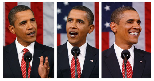 In the second year of his presidency, Obama needs to decide which Obama he intends to be. Will he be the inspirational icon he often was during the 2008 campaign? Will he be a poll-driven, Clinton-style triangulator? Or will he be a pragmatic but also charismatic voice of progressive ideology? During his first year in office, he has been all three. Here's hoping he recaptures the spirit of '08 again and emerges as the leader progressives hoped he'd be.[AP Images]
