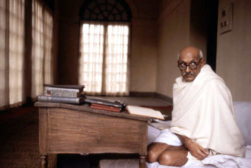 "Ben Kingsley's uncanny, Oscar-winning portrayal of Gandhi in this epic film is so iconic, he's still trying to shake the persona. Robert Hatch says Kingsley ""reaffirms the Mahatma's legendary courage, moral purity and steadfast vision, and adorns these virtues with an ironic quickness of wit and a simple gaiety that add a beguiling humanity to Gandhi's popular image."" (Photo: Everett Collection)"