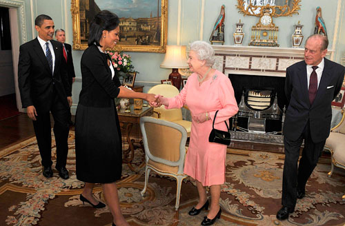 One of the biggest stories to emerge out of the G-20 summit is the enormous, growing popularity of Michelle Obama (pictured here greeting Queen Elizabeth). Her style and grace wows pundits and the public, although not all the press coverage is especially informative. (Reuters Pictures)