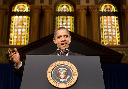 """In a major address on the economy, the president says """"we cannot rebuild this economy on the same pile of sand."""" Katrina vanden Heuvel feels optimistic that Obama's call for a new economy conveys his fundamental understanding of the challenges we face, but also thinks a massive mobilization of Americans is required to make his vision a reality. (Reuters Pictures)"""