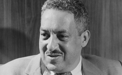 "Marshall was a leading civil rights lawyer and the first black Supreme Court justice, appointed by LBJ in 1967. As NAACP chief counsel, he led the battle in the courts for civil rights despite repressive conditions and a limited budget. He won his first Supreme Court case, Chambers v. Florida, in 1940, at age 32 and won twenty-nine out of the thirty-two cases he argued before the Court. Many of them were landmark decisions that helped dismantle segregation, including Smith v. Allwright (1944), Shelley v. Kraemer (1948), Sweatt v. Painter (1950) and McLaurin v. Oklahoma State Regents (1950). His most famous legal victory was Brown v. Board of Education (1954), in which the Court ruled that the ""separate but equal"" doctrine, established by Plessy v. Ferguson, violated the Constitution. On the Supreme Court he was an outspoken advocate for free speech and civil rights.