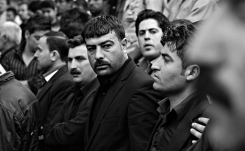 Protesters in downtown Halabja on March 24