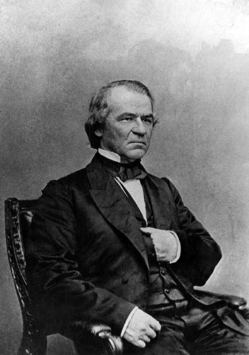 Lincoln's successor, Andrew Johnson, fell far short of the standard. Despised by the legislature and the public, he became the first president to be impeached by Congress. He held onto office by the skin of his teeth, avoiding conviction by one vote.  [Everett Collection]