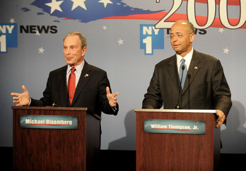 New York City Mayor Michael Bloomberg narrowly defeats little-known Democrat Bill Thompson, despite spending a record-breaking $100 million dollars on his re-election campaign and holding a double digit lead in most polls leading up to Election Day. Without a real mandate for a third term, it's hard to see Bloomberg waging a credible campaign for the presidency in 2012. AP Images