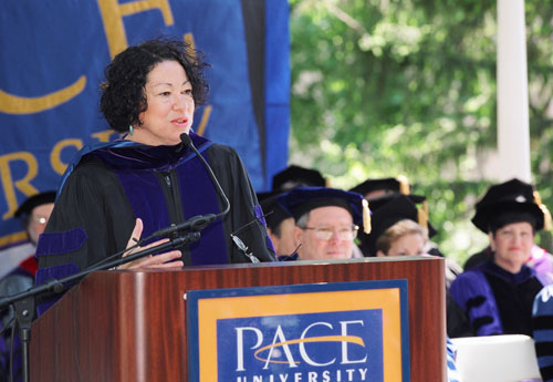 If tapped, US Appellate Court Judge Sonia Sotomayor would not only be the first Hispanic-American Supreme Court Justice, she would also bring intellectual and moral vision, as well as an understanding of inequality to the Court's decision-making process. [Photo: Pace University]