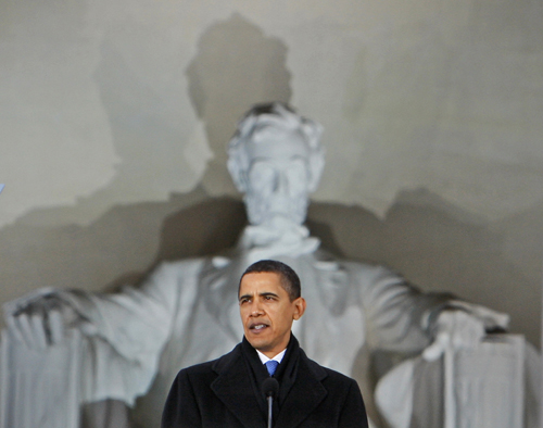"""""""In terms of style of governance, Obama has if anything over-learned some lessons of history: it was good that he didn't want to dictate a health bill to Congress, but he ceded too much authority; it was good that he didn't want to mollycoddle Israel, but he alienated even some friendly Kadima and Labour elements, etc. Those who pay too much attention to history are doomed to... well, maybe we'll see."""" --Michael Tomasky, Editor, Democracy: A Journal of IdeasAP Images"""