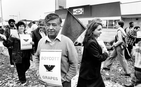 "Building on his experiences as a farmworker and community organizer in the barrios of Oakland and Los Angeles, Chavez did what many thought impossible—organize the most vulnerable Americans, immigrant farmworkers, into a successful union, improving conditions for California's lettuce and grape pickers. Founded in 1960s, the United Farm Workers pioneered the use of consumer boycotts, enlisting other unions, churches and students to join in a nationwide boycott of nonunion grapes, wine and lettuce. Chavez led demonstrations, voter registration drives, fasts, boycotts and other nonviolent protests to gain public support. The UFW won a campaign to enact California's Agricultural Labor Relations Act, which Governor Jerry Brown signed into law in 1975, giving farmworkers collective bargaining rights they lacked (and still lack) under federal labor law. The UFW inspired and trained several generations of organizers who remain active in today's progressive movement.   From The Nation's Archives: The Farm Workers' Next Battle by Cesar Chavez.   Further Reading: ""The Mexican American and the Church"" by Cesar Chavez. Cesar Chavez: Autobiography of La Causa by Jacques E. Levy. The Union of Their Dreams: Power, Hope, and Struggle in Cesar Chavez's Farm Workers Movement by Miriam Pawel. Why David Sometimes Wins: Leadership, Organization, and Strategy in the California Farm Worker Movement by Marshall Ganz.   Credit: AP Images"