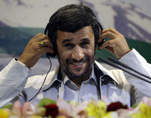 As Iran's government (led by Mahmoud Ahmadinejad, pictured) continues to crack down violently on dissent and lose credibility, will President Obama meet his goal of direct diplomatic talks in the hopes of nuclear disarmament?[AP Images]