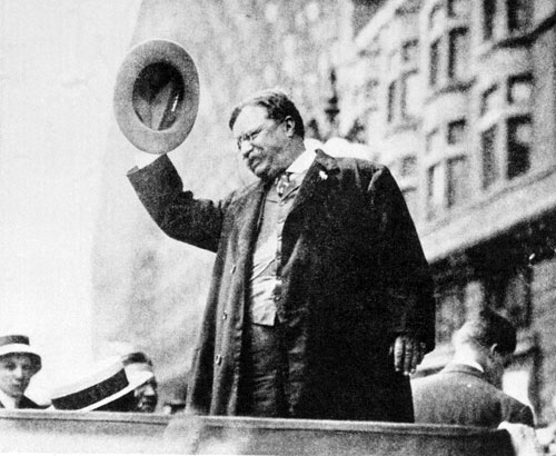 After decades of mostly forgettable presidents who were routinely dominated by the legislative branch, the larger-than-life Teddy Roosevelt assumed the presidency in 1901, following the assassination of William McKinley. His tough guy persona and aggressive foreign policies often overshadow his more progressive ideals.[AP Images]