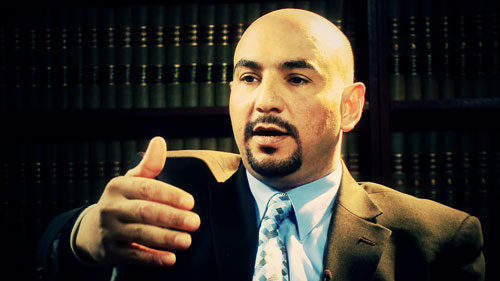 """Mohammed Kinani speaking to The Nation in January 2009. """"I'm not only remembering the [Nisour Square massacre], but rather I'm reliving it as if it's happening now,"""" he says.Photo: Rick Rowley, BigNoiseFilms.org"""