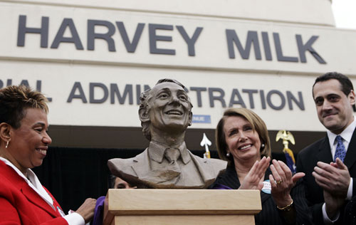 In August 2009, following the popular success of an Academy Award-winning biopic about Harvey Milk and the thirtieth anniversary of Milk's tragic assassination, President Obama pays tribute to the gay rights icon by awarding him a posthumous Presidential Medal of Freedom, the highest honor an American civilian can receive. AP Images