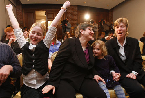 The fight for marriage equality gets a major boost when the Iowa Supreme Court legalizes gay marriage statewide. Even more encouraging than the decision itself is the relatively muted response from the opposition. AP Photos