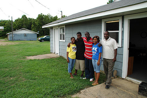 Calvin Head at the WHCDO (West Holmes County Community Development Organization) headquarters in Mileston with some of the young people participating in the WHCDO Farmers' Market program. The organization uses some of the regions agricultural resources to bring fresh, healthy food and supplemental income to County residents. Left to right: Lakia Scott, Henry Cage, Carlos Walden, Jessica Howard, Calvin Head. Click to return to this article.