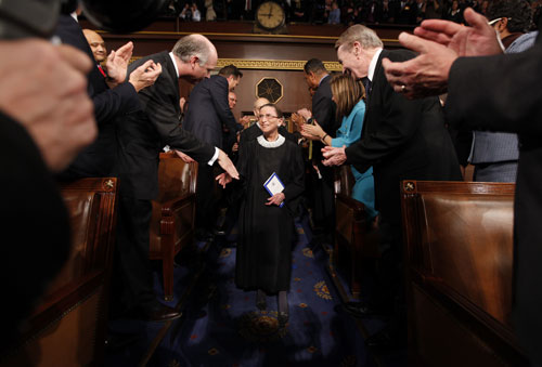 The president could seek a justice in the mold of Ruth Bader Ginsburg. Since 1993, Ginsburg has been a reliable voice of dissent on matters of principle. For instance, her argument against her fellow justices laid the groundwork for the Lily Ledbetter Fair Pay Act.  [AP Images]
