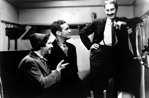 A Night of the Opera (1935) Pulitzer Prize-winning poet Mark van Doren reviews films for The Nation in the 30's. In this witty little essay, he finds  the Marx Brothers funny beyond words. (Photo: Everett Collection)