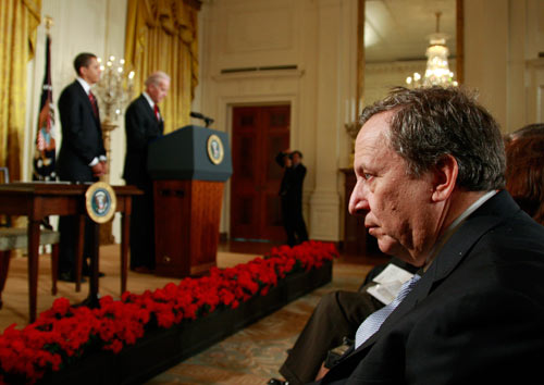 As Larry Summers takes a dominant role in crafting economic policy, it falls to Vice President Joe Biden to protect the interests of the middle class. The Nation's Christopher Hayes explores the battle behind the scenes here. (Reuters Pictures)