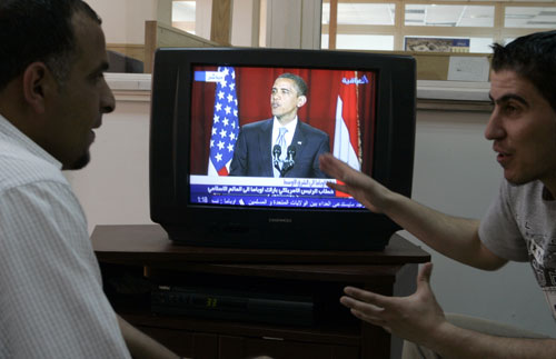 In a historic speech in Cairo, President Obama breaks with the Bush years by making a sincere pitch for a renewed relationship between the US and the Middle East. Although efforts to have talks with Iran and forge peace between Israel and Palestine have mostly stalled this change in tone is still welcomed by many in the international community.AP Images