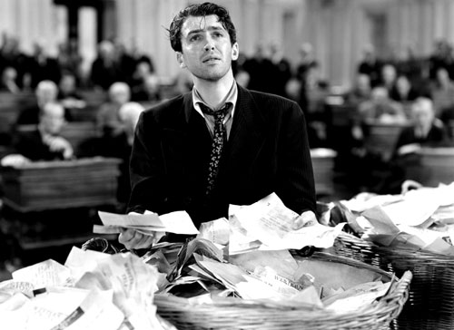 Mr. Smith Goes to Washington (1939) Jimmy Stewart,  in one of his most iconic roles, plays an honest lawmaker who stands up for the little guy and triumphs over the cynicism of politics. The film provides hope and catharsis for a battered nation. (Photo: Everett Collection)