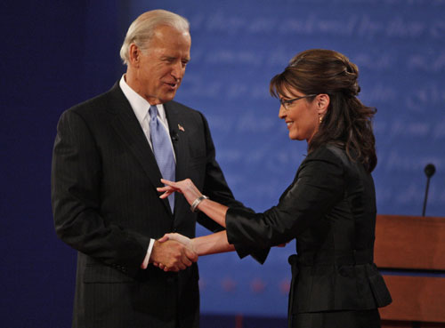 After weeks of bad press and poor performances more Americans tune in for Palin's first and only vice presidential debate than watched Obama and McCain's first showdown. While some say she more than held her own against Democrat Joe Biden, her lack of knowledge about the role of the vice president among other glaring gaffes doesn't help burnish her credentials with undecideds.[AP Images]