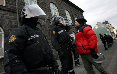 There's an upside to economic catastrophe, at least in Iceland. Rebecca Solnit explains how a cold country lost its shirt in the global economic meltdown, but may have found its soul, as once passive Icelanders demand accountability from their government. (AP Images)