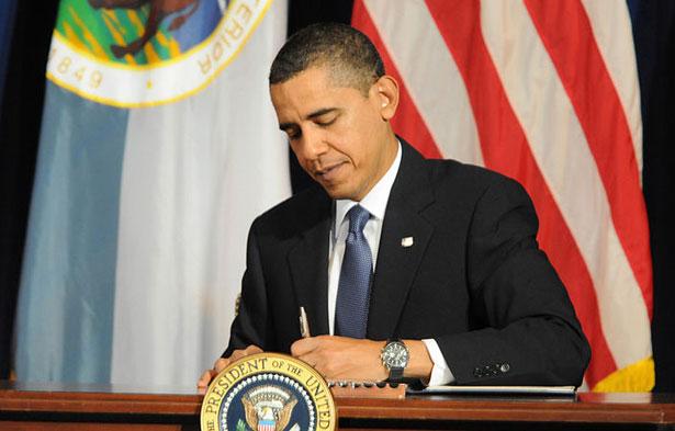 - President Barack Obama signs a Memorandum of Understanding