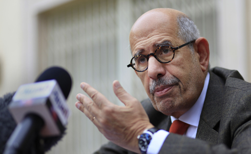 Mohammad ElBaradei, the former executive director of the International Atomic Energy Agency, returned to Egypt last year as a possible candidate to run against Mubarak in the presidential election that had been planned for 2011. ElBaradei rose to prominence when he challenged the George W. Bush administration's claims on weapons of mass destruction in Iraq in 2003, and later in Iran. 
