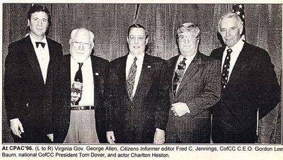 Photo of VA Gov George Allen with group.