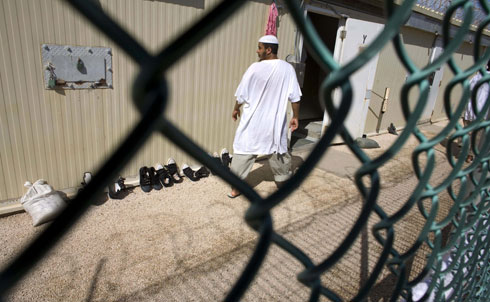 US diplomats have been searching for countries that will take Guantánamo detainees, often bargaining with them; the receiving country might get a one-on-one meeting with Obama or some other perk.   Credit: AP Images
