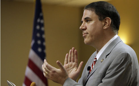 """Known for his moxie and no-nonsense debating style, Florida's Democratic Representative Alan Grayson has stayed true to progressive values throughout his time in office. Grayson has created or saved thousands of jobs in his district and cultivated a strong Hispanic base with small-business training initiatives and quality of life projects, like bringing Spanish language materials to libraries. He seems to be one of the few Democrats who is really adept at energizing his base, """"mobilizing a committed home base of union members, prochoice activists, gays, Jews and African-Americans—along with young 'Daily Show Democrats,'"""" wrote Mark Pinsky.  As John Nichols wrote earlier this year, """"Grayson's politically smart, legislatively nimble, willing to work across lines of partisanship and ideology and unapologetic when it comes to challenging corporate and political elites. What's not to like?""""  Grayson may be a true-blue progressive contender, but he took a cheap shot recently, and he's paying the price. A smear campaign against his Republican opponent, Daniel Webster, backfired, costing Grayson in the polls and making Webster $70,000 richer. But the folks at The American Prospect caution that a poll suggesting Grayson lags by 7 percent can't be taken too conclusively—and that the outcome of the race will send a message to Dems on whether playing to their values works or not.  Credit:APImages"""