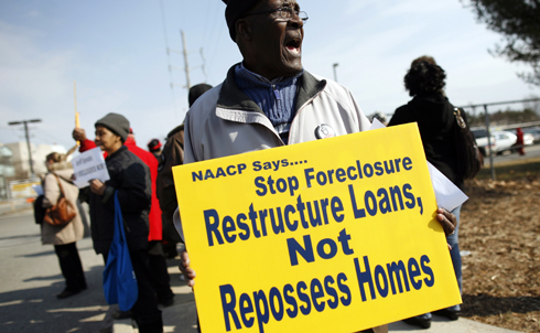 The Obama administration's response to the housing crisis has been widely criticized as both insufficient and ineffectual. Millions of Americans are still exposed to the foreclosure crisis, which remains one of the main drivers of the recession.  Obama should invigorate the economy with a major mortgage write-down program. Given the bailout funds the banks received from the federal government, they owe Obama one.  Credit: Reuters Pictures