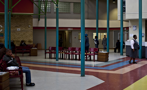 The lobby at the Dora Nginza Hospital in Port Elizabeth, South Africa