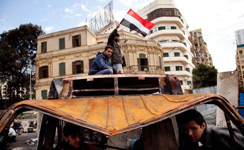 Protesting in Tahrir Square