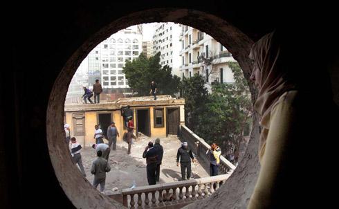 Birds eye view of Tahrir