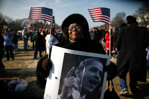 Jossie Redmond traveled from Mississippi to attend the inauguration ceremony in Washington. (Reuters Photos)