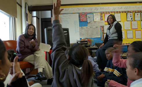 """In South Korea, teachers are known as 'nation builders.' Here in America, it's time we treated the people who educate our children with the same level of respect. We want to reward good teachers and stop making excuses for bad ones. And over the next 10 years, with so many baby boomers retiring from our classrooms, we want to prepare 100,000 new teachers in the fields of science and technology and engineering and math…